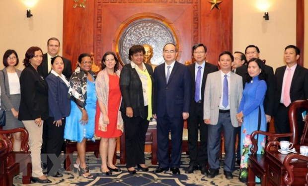 HCM City leader receives Cuban guest hinh anh 1