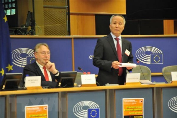 European Parliament holds hearing on EU-Vietnam FTA hinh anh 1
