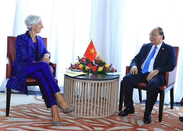PM Nguyen Xuan Phuc meets IMF Managing Director in Bali hinh anh 1