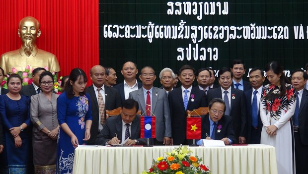 Quang Binh, Lao locality promote cooperation, exchange hinh anh 1