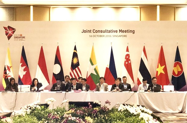 ASEAN holds Joint Consultative Meeting to prepare for 33rd Summit hinh anh 1