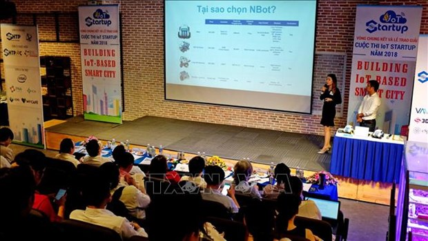 Final round of IoT start-up competition held in HCM City hinh anh 1