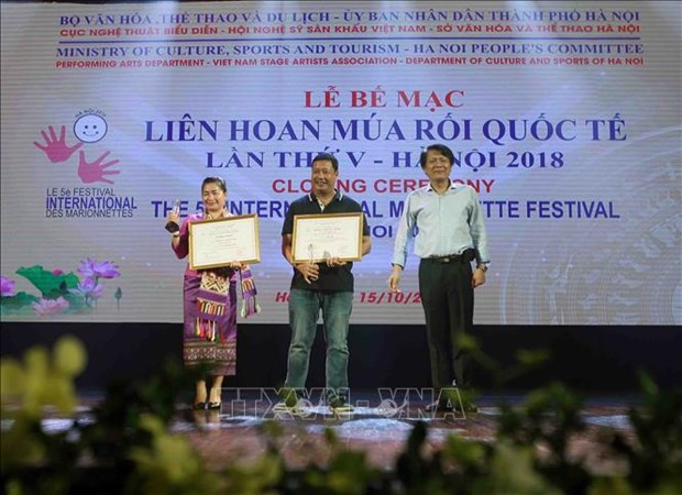 Vietnam claims seven gold medals at International Marionette Festival hinh anh 1