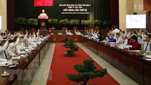 HCM City's Party Committee wraps up 18th meeting hinh anh 1