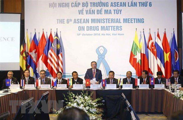 ASEAN countries persistent in building drug-free community hinh anh 1