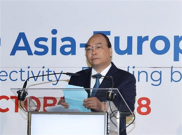 PM calls for closer Asia-Europe connectivity, cooperation hinh anh 1