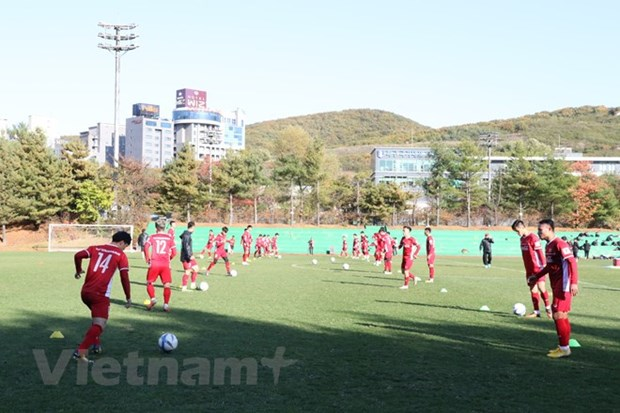 National football team ready for friendly matches in RoK hinh anh 1