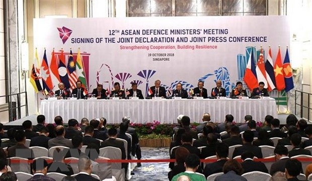ADMM 12: ASEAN, dialogue partners strengthen defence cooperation hinh anh 1