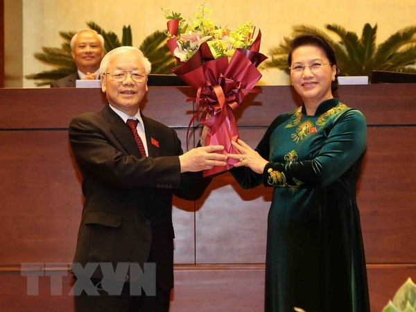 Foreign leaders congratulate President Nguyen Phu Trong hinh anh 1