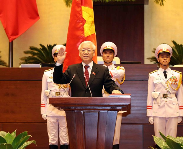 Party leader Nguyen Phu Trong becomes new President hinh anh 1