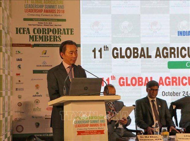 Vietnam attends Global Agriculture Leadership Summit in India hinh anh 1