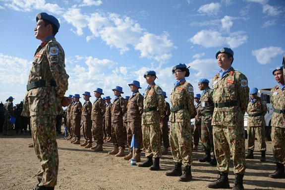 Vietnam peacekeepers attend UN Day celebrations in South Sudan hinh anh 1