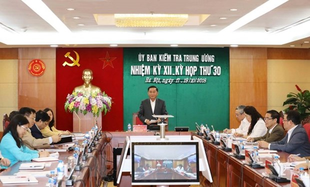 Party's Inspection Commission reveals outcomes of 30th session hinh anh 1