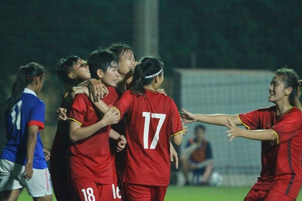 Vietnam beats Malaysia in AFC U19 Women's Champs opener hinh anh 1