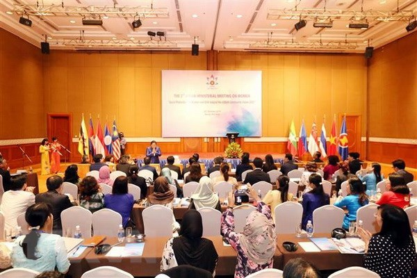ASEAN ministers seek measures to improve social welfares for women, girls hinh anh 1