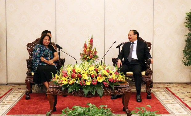 HCM City official welcomes Cuban Women's Federation representatives hinh anh 1