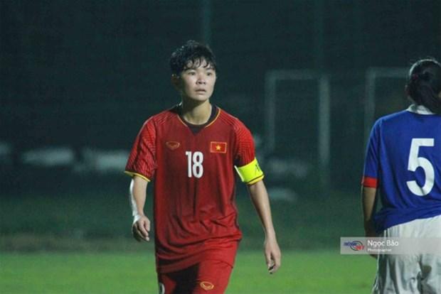 Vietnam's U19 women crush Singapore at AFC champs hinh anh 1