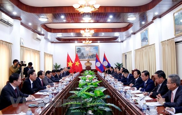 Vietnamese, Lao Party inspection agencies look to foster ties hinh anh 1