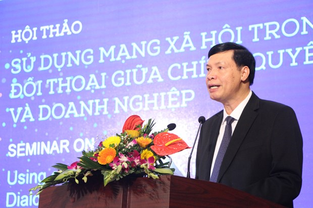 Seminar spotlights social networks in authorities-businesses dialogue hinh anh 1