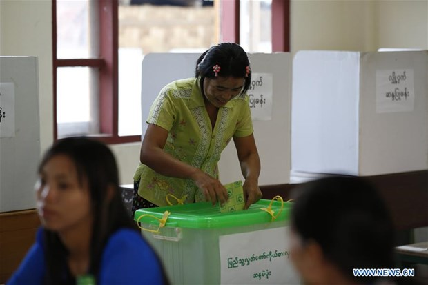Myanmar holds parliamentary by-election hinh anh 1