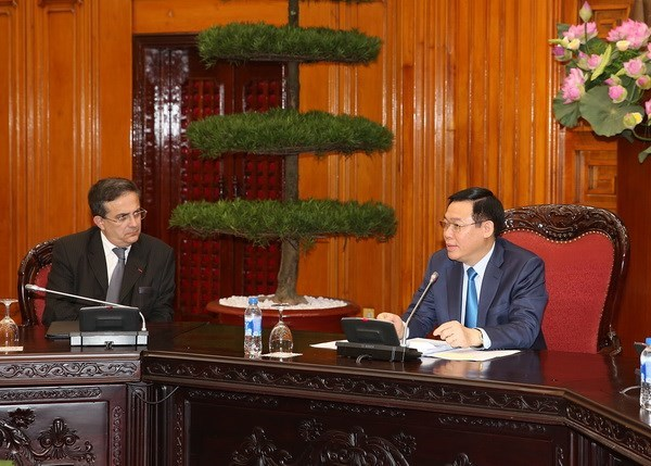 Deputy PM Vuong Dinh Hue receives French business delegation hinh anh 1