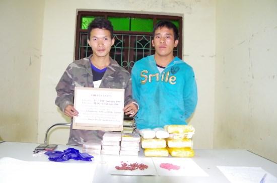 Lao drug traffickers arrested in Dien Bien hinh anh 1