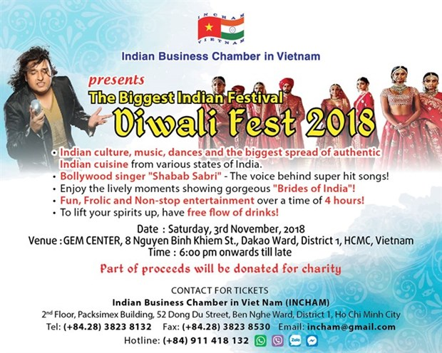 HCM City celebrates Indian Diwali Festival hinh anh 1