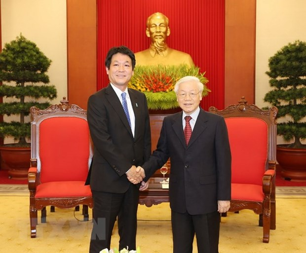 Party and State leader welcomes Japanese PM's special envoy hinh anh 1