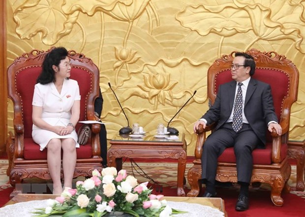 Party official receives delegation of DPRK women's union hinh anh 1
