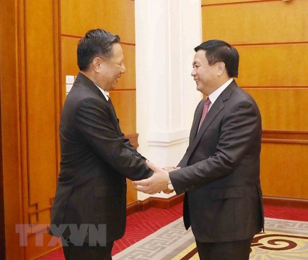 Vietnamese, Lao theoretical officials meet hinh anh 1