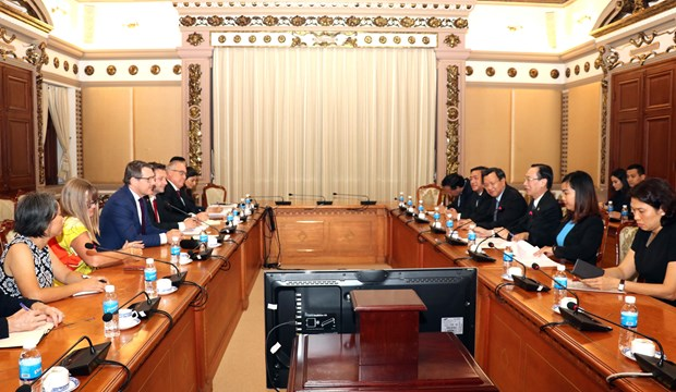 HCM City leader hosts Chief Minister of Australia's Northern Territory hinh anh 1
