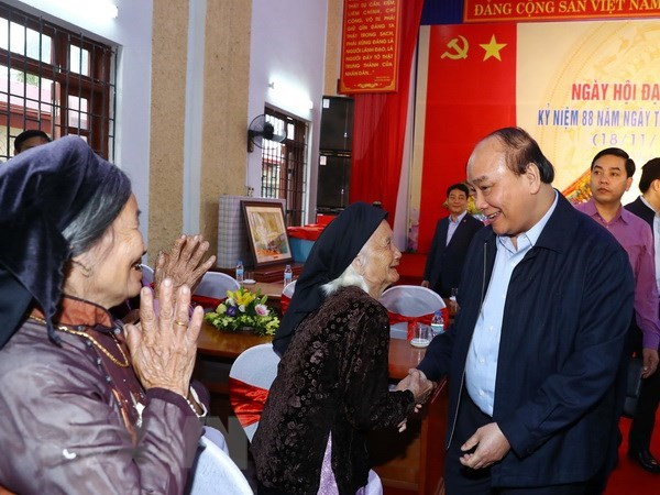 Prime Minister attends great national unity festival in Bac Giang hinh anh 1