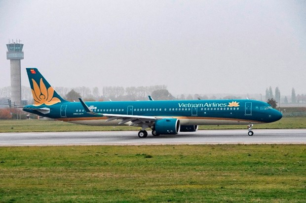 Vietnam Airlines receives first Airbus A321neo plane hinh anh 1