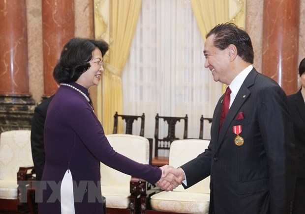 Vice President receives Japanese Kanagawa prefecture delegation hinh anh 1