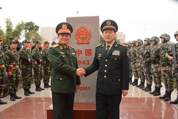 Vietnam-China border defence friendship exchange begins hinh anh 1