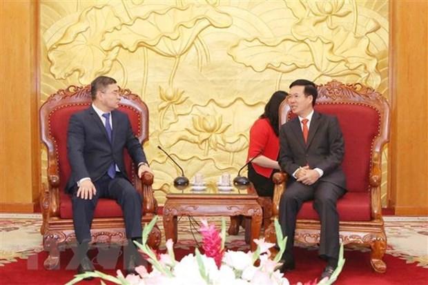 Delegation of Kazakhstani Nur Otan party welcomed hinh anh 1