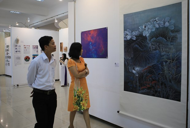 Int'l exhibition in Hue features over 80 artworks hinh anh 1