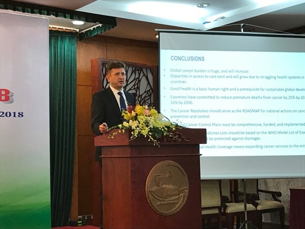 Conference talks cancer control plans hinh anh 1