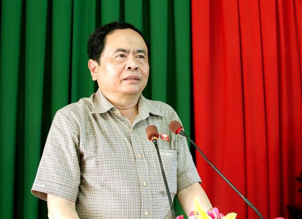 Front President meets constituents in Can Tho hinh anh 1