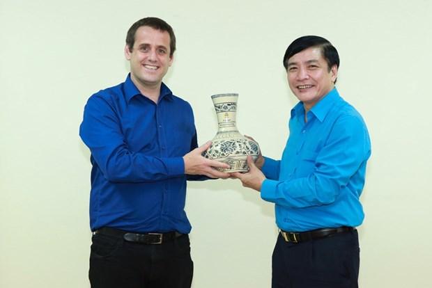 Vietnam, NZ trade union agencies enhance bilateral cooperation hinh anh 1