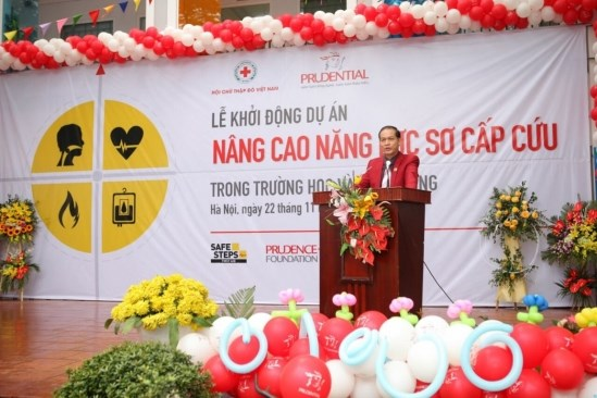 Project improves first aid response capacity at schools hinh anh 1