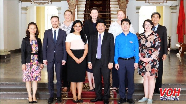HCM City's official receives Australian delegation hinh anh 1
