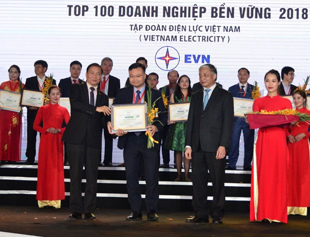 """EVN enters """"sustainable enterprises"""" list in 2018 hinh anh 1"""
