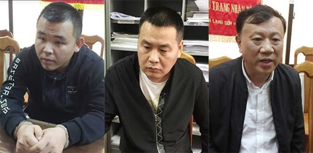 Three in int'l wanted list arrested in Quang Ninh hinh anh 1