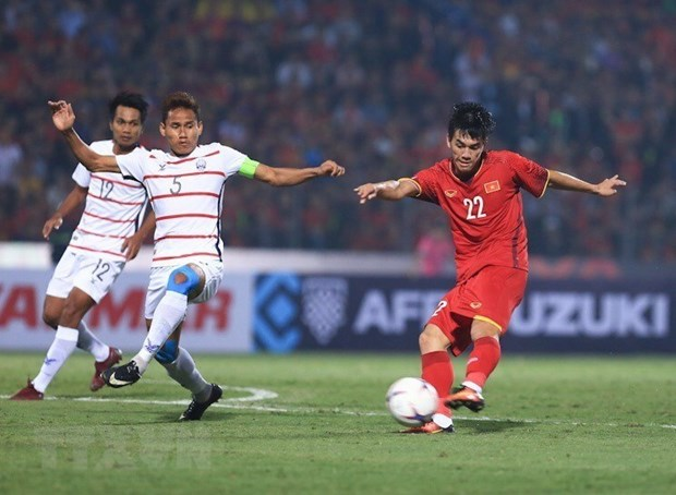 Vietnam defeat Cambodia 3-0, entering semifinal of 2018 AFF Suzuki Cup hinh anh 1