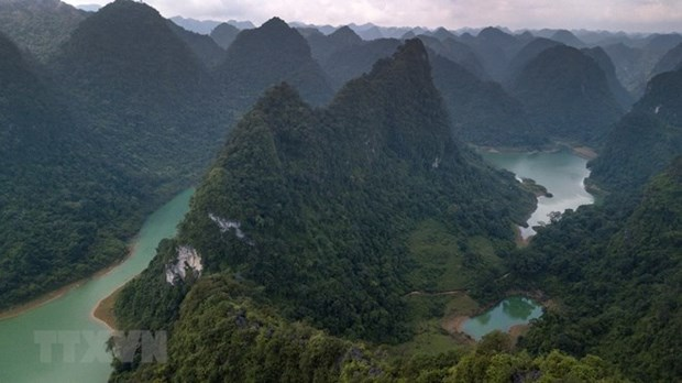 Non Nuoc Cao Bang receives UNESCO global geopark status hinh anh 1