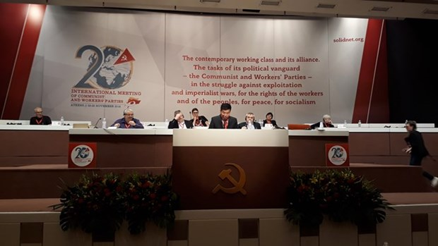 CPV delegation active at meeting of communist, workers' parties hinh anh 1