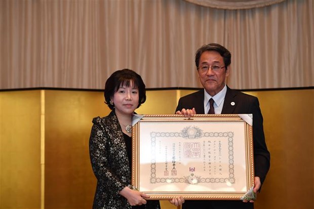 Female Vietnamese academician receives Japan's noble order hinh anh 1