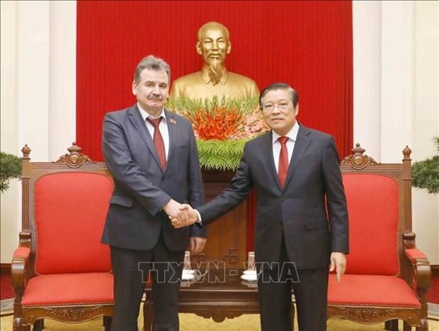 Delegation of Communist People's Party of Kazakhstan visits Vietnam hinh anh 1