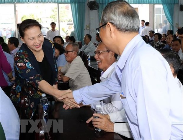 NA Chairwoman Nguyen Thi Kim Ngan meets Can Tho voters hinh anh 1